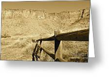 Moab - Sepia Greeting Card