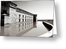 Moat Around Fort Delaware Greeting Card