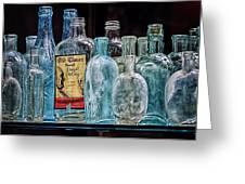 Mob Museum Whiskey Bottles Greeting Card