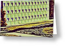 Mod Wall Tree Shadow Greeting Card
