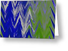 Moda Chevron Pattern IIi Greeting Card by Ricki Mountain