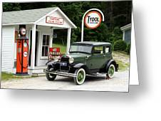 Model A Ford Greeting Card by Ted Kinsman