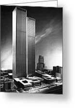 Model Of World Trade Center Greeting Card
