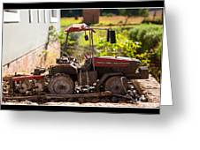 Model Tractor Greeting Card by Miguel Capelo