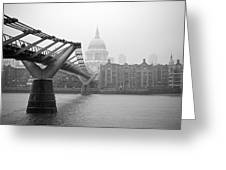 Modern And Traditional London Greeting Card