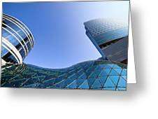 Modern Architecture In Downtown Greeting Card by Artur Bogacki