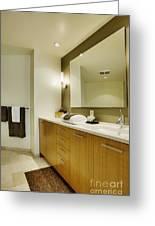 Modern Bathroom Interior Greeting Card
