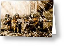 Modern Battle Field Greeting Card