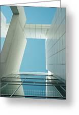 Modern Building Viewed From Below Greeting Card