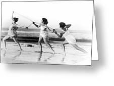 Modern Dance On The Beach Greeting Card