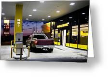 Modern Gas Station Greeting Card