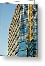 Modern Office Building Windows Greeting Card