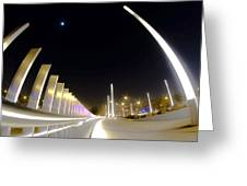 Modern Street Lighting Greeting Card