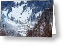 Moeciu Village In Winter Greeting Card