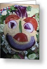 Mohawk Salad Face Greeting Card