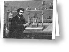 Moissan Isolating Fluorine, 1886 Greeting Card
