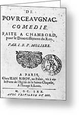 Moliere (1622-1773) Greeting Card
