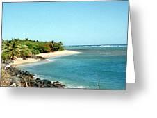 Molokai Shore Greeting Card