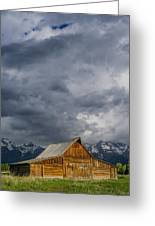 Molton Barn And Approaching Storm Greeting Card
