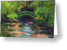 Momet's Water Lily Garden Toward Evening Greeting Card