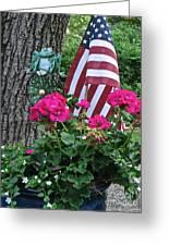 Mom's Pink Geranium  Greeting Card