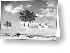 Mom's Tropical Dreams Bw Greeting Card