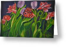 Mom's Tulips Greeting Card