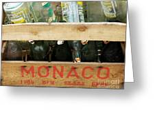 Monaco Wooden Crate Greeting Card