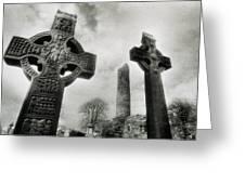 Monasterboice, Co Louth, Ireland, High Greeting Card