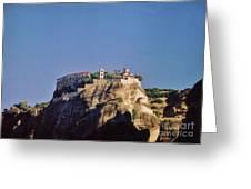 Monastery At Meteora Greece Greeting Card