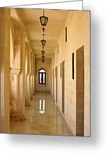 Monastery Passageway Greeting Card