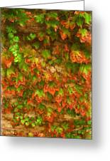 Monet Leaves Greeting Card