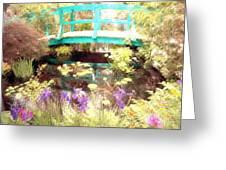 Monet's Bridge Greeting Card