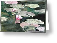 Monet's Lily Pads Greeting Card
