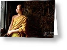 Monk Alex Laos Greeting Card