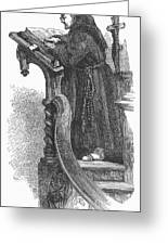 Monk Preaching Greeting Card