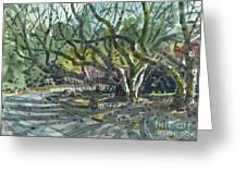 Monk Trees Two Greeting Card