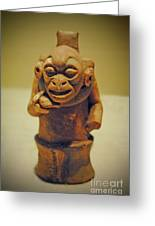 Monkey Stone Greeting Card