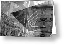 Monmartre Paris In Black And White Greeting Card