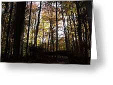 Mono Cliffs Trees Greeting Card