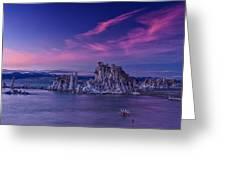 Mono Lake's Fiery Sky Greeting Card