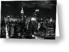 Monochrome City Greeting Card