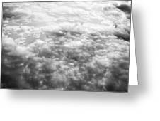 Monochrome Clouds Greeting Card