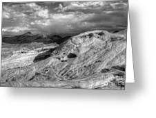 Monochrome Landscape Project 2 Greeting Card