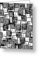 Monochrome Squares Greeting Card
