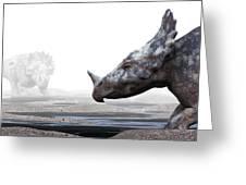 Monoclonius Dinosaur Greeting Card