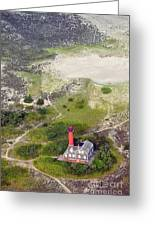 Monomoy Light At Monomoy Wildlife Refuge In Chatham On Cape Cod Greeting Card