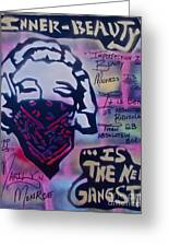 Monroe Gangstah Greeting Card