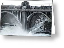 Monroe St Bridge 2 - Spokane Washington Greeting Card