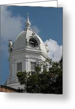 Monroeville Courthouse Clock Greeting Card